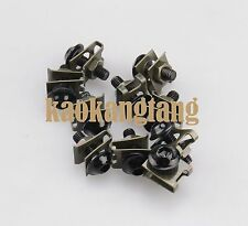 Black Fairing Bolts M6 6mm Spire Speed Fastener Clips Spring Nuts x10