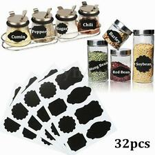 32pcs Different Type Blackboard Labels Chalkboard Stickers Glass Jar Decal Tag