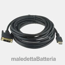 Cavo 5 Metri: HDMI A maschio   DVI-D maschio Single Link