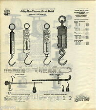 1916 ADVERT Chatillons Ice Balance Scale Heavy Scale Beam Steelyard