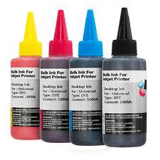 4x 100ml Bottles Universal Dye Printer Ink for CISS Printer Cartridges