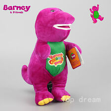 Barney The Dinosaur Sing I LOVE YOU Song Purple Plush Soft Toy Doll 12'' Teddy
