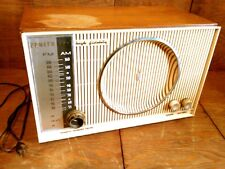 Vtg 50's Zenith High Fidelity AM/FM/FMC Tube Radio w/Phono Input Works 666