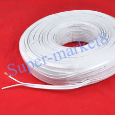 10 Meters Flat Speaker Cable Wire White Strands x 2 OFC Flexible Highly Quality