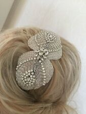 Ivory Beaded Crystal Jewelled Headband Wedding Bridal Hairpiece Accessories