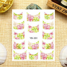 Nail Art Manicure Water Transfer Decal Stickers French Pattern YB351