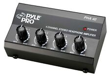 NEW Pyle PHA40 4 Channel Stereo Headphone Amplifier