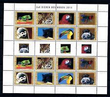 [41083] Aruba 2013 Jungle animals Panter Parrot Frog Miniature Sheet MNH