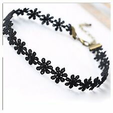 Vintage stretch Collier Love Flower Necklace Choker For Women Chain Jewelry