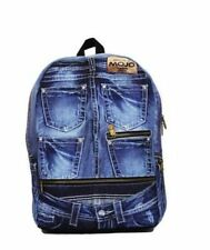 MOJO blue denim jeans Backpack