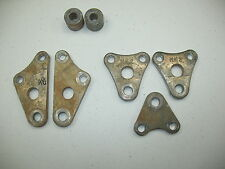 1986 HONDA XR 600 R XR600R MOTOR MOUNTING PLATES + BUSHING SPACERS - VERY NICE