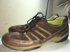 Ecco Sneakers Oxfords Shoes Lace Ups Brown Suede Women's 10 / 41
