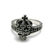 Crown Skull Ring Rock! -  Sterling Silver .925 size 5