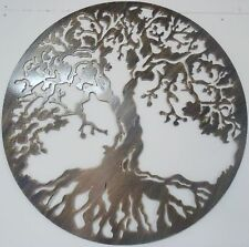 Tree of Life Metal Art, Antique Look, 40 Inches Wall Decor