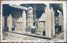1928 Realphoto French Art Deco Advertising Postcard: Lumiere & Jougla-Photo Expo