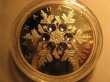 CANADA 2010 $20 FINE SILVER COIN CRYSTAL SNOWFLAKE(TANZANITE) RARE