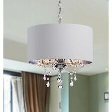Indoor 3-light White/ Chrome Pendant Chandelier