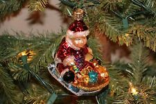 *Baby's First with Sled* Rare & Retired - Old World Christmas Ornament - NEW