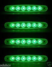 4x Lateral Esbozar Marcador 6 Luces LED Verde 12V luces CAMIÓN TRAILER para MAN