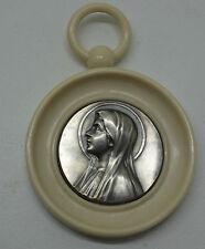 ancienne médaille de berceau  la vierge