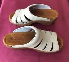 Women's ECCO Slide Sandals, Lt Blue  Leather, EU 36, US 6, Excellent!