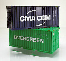 "Wiking 001814 Zubehörpackung 20-Fuß Container "" Evergreen "" & "" CMA-CGM """