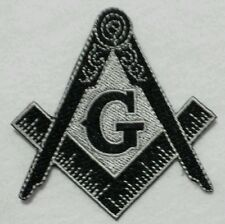 Freemason Masonic Black and Grey Iron on Patch
