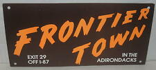 "Frontier Town 1960's Bumper Sticker (Wire Type) Unused 14"" x 7"""