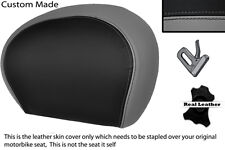 BLACK & GREY CUSTOM FITS PIAGGIO VESPA 125 250 300 GTS LEATHER BACKREST COVER
