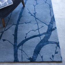 NEW West Elm Moonlight Branches 5' x 8' Wool Rug~Blue Lagoon~