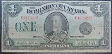 DOMINION OF CANADA 1923 - $1 NOTE - Black Seal/Group 4/Series E-Campbell & Clark