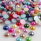 2000pcs Half Round Pearl Bead Flat Back Size 3mm Scrapbook for Craft Mixed Color