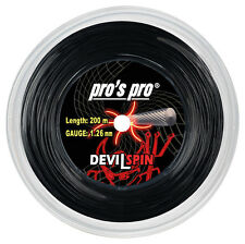 PRO'S PRO DEVIL SPIN 1,26 mm 16L Tennis Stringhe 200m REEL