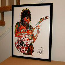 Eddie Van Halen, Guitar Player, Guitarist, Edward Van Halen 18x24 POSTER w/COA 2
