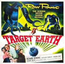 Target Earth Poster 03 Metal Sign A4 12x8 Aluminium