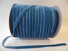 5m x 10mm Velvet Ribbon : 62 Teal