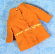 Vintage Skipper Barbie Dramatic Living Sears Very Best Velvet Orange Coat Rare!