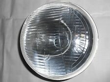 "UNIVERSAL HEAD LAMP HEAD LIGHT ASSLY 7"" FLAT 12V JEEP MAHINDRA CJ3B WITH HOLDER"