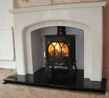 BLACK GRANITE HEARTHS - MADE TO MEASURE FOR WOOD/MULTIFUEL STOVES