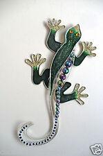 FUSION GLASS LIZARD GECKO   FENCE GARDEN GREEN style 2 yard figurine