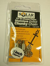 """Solar 5"""" Stainless Chunky Chain Carp fishing tackle"""
