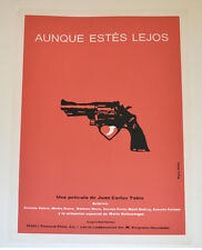 Cuban Original SILKSCREEN Movie POSTER.Handmade art.White Trigger.Hand gun red