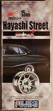 Fujimi 192758 Felgen Hayashi Street 15 Zoll inkl. Pirelli Cinturato P 7, 1:24