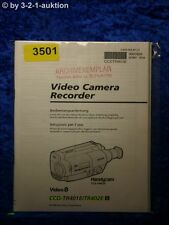 Sony Bedienungsanleitung CCD TR401E /TR402E Video Camera Recorder (#3501)