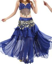 Bollywood Belly Dance Costumes Sets B cup Bra+ Belt or Bra Coins Belt full skirt
