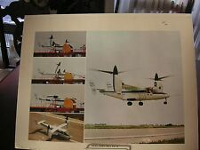 """NASA Army Bell XV-15 print 22"""" x 17"""" As Is - some edge wear"""