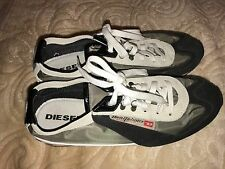 Diesel Men's 9M Unforgettable Black White Suede/Nylon Fashion Sneakers