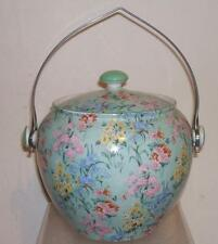 VINTAGE SHELLEY MELODY ART DECO CHINTZ BISCUIT BARREL