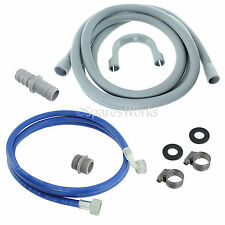 BEKO Universal Dishwasher Fill Water Pipe and Drain Hose Extension Kit 2.5m