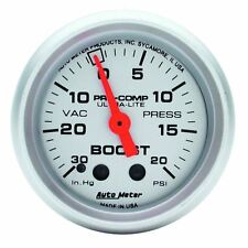 "AutoMeter 4301 Gauge, Vac/Boost, 2 1/16"", 30inHg-20psi, Mechanical, Ultra-Lite"